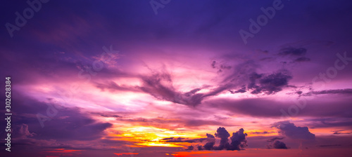 Montage in der Fensternische Violett Beautiful sunset - sunrise with clouds. Sky with clouds. Colorful natural background