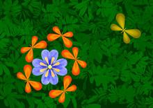 Papillons Amoureux D'une Fleur