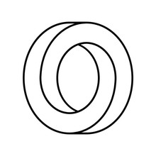 Impossible Circle Shape. Optic...