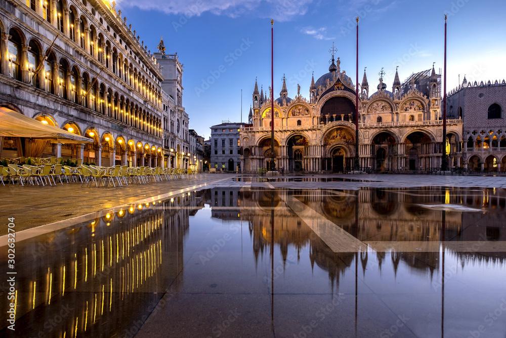 Fototapety, obrazy: Venezia acqua alta, alta marea
