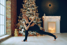 Yoga Christmas. Yoga Class At ...