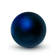 Blue Dark Sphere, Ball. Mock U...