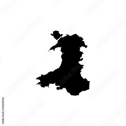 Fotografie, Obraz map of Wales. Vector illustration