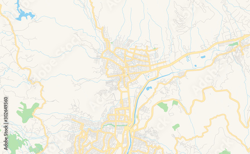 Tela  Printable street map of Bello, Colombia