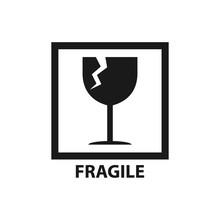 Fragile Label Symbol, Broken G...