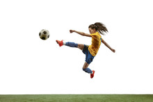 Young Female Soccer Or Footbal...