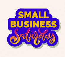 Lettering Phrase Small Busines...