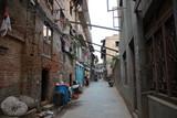 Fototapeta Uliczki - narrow street in old town of Nepal