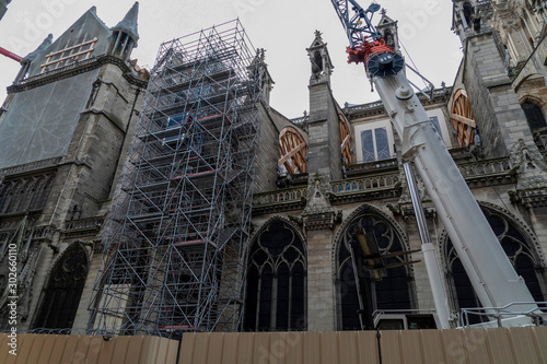 Notre dame paris under restoration