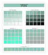COLORS PALETTE / Ocean Wave / Spring and Summer 2020 Colors Palette for Textile Prints and Digital Use. Fashion Trend Colors Guide with Tints and Shades Swatches, Compatible with Design Softwares.