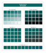 COLORS PALETTE / Quetzal Green / Spring and Summer 2020 Colors Palette for Textile Prints and Digital Use. Fashion Trend Colors Guide with Tints and Shades Swatches, Compatible with Design Softwares.