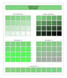COLORS PALETTE / Summer Green / Spring and Summer 2020 Colors Palette for Textile Prints and Digital Use. Fashion Trend Colors Guide with Tints and Shades Swatches, Compatible with Design Softwares.