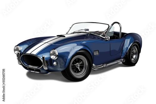 Photo  Classic sports car Shelby Cobra