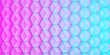 canvas print picture - uniform background of cubes at an angle in pink blue