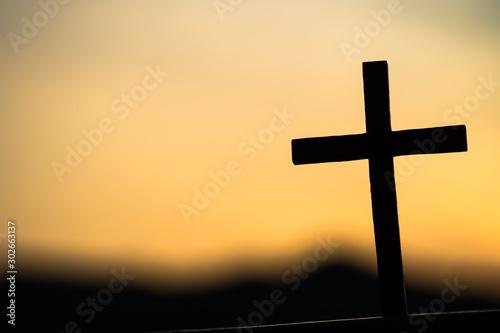 십자가,나무십자가,영광,은혜,부활절,사순절 Fototapet