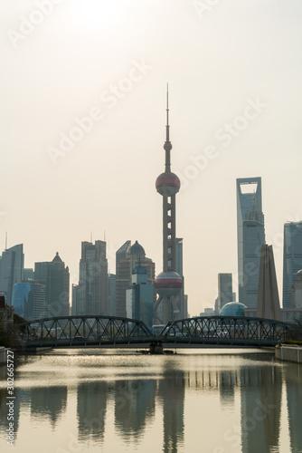 Photo Oriental Pearl Tower and Shanghai skyline, Shanghai, China