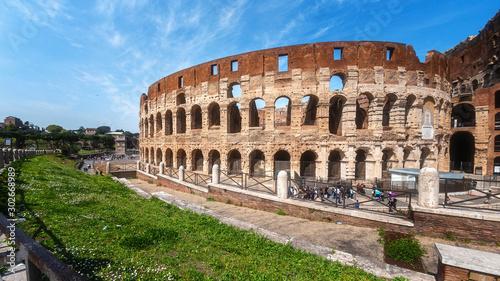 Fotografia, Obraz  Coliseum or Flavian Amphitheatre (Amphitheatrum Flavium or Colosseo), Rome, Italy