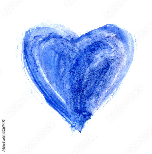 Fotomural Hand-drawn painted light blue heart