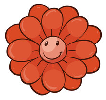 Single Flower In Red Color