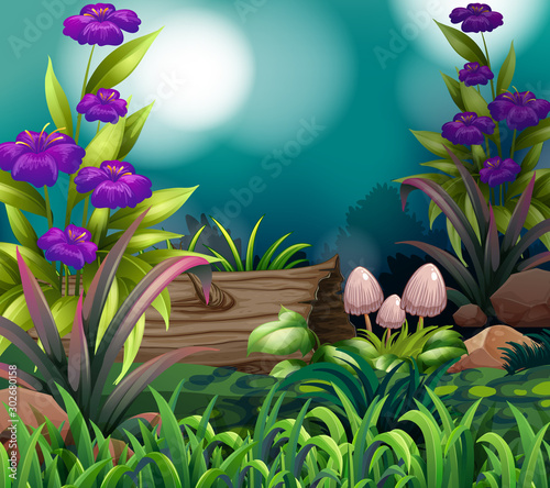 Foto op Plexiglas Kids Background scene with nature theme