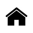 Home icon. House vector illustration EPS10. Real estate concept