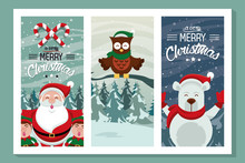 Happy Merry Christmas Card Wit...
