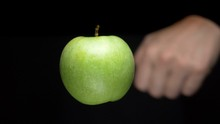 Levitating Apple Is Cut With A...