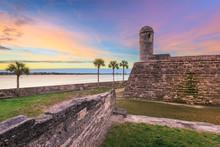 St. Augustine, Florida At The Castillo De San Marcos National Monument