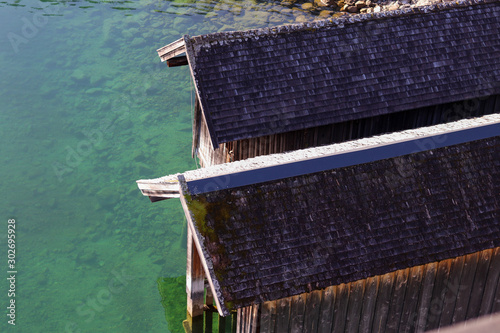 Foto boathouse on a lake