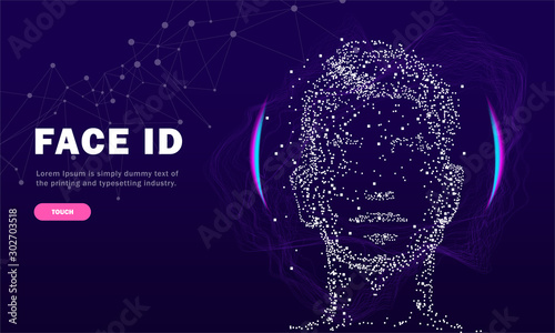 Fotomural  Face id technology