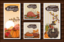 Happy Thanksgiving Day Bundle Of Cards