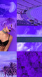canvas print picture - Fashion aesthetic moodboard.  Purple minimal details vibes