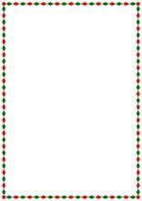 Vector Christmas A4 Page Border