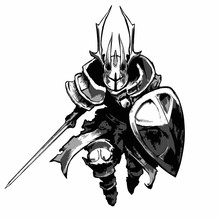 A Knight In Plate Armor, Horne...