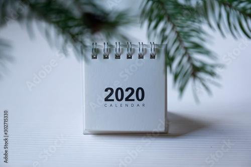 Fotografía  Happy new year 2020 concept: Close up calendar on desktop