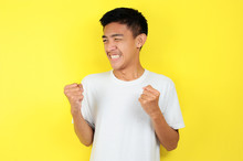 Young Asian Man Happy And Exci...