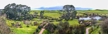 Countryside Of The Hobbiton Movie Set On A Beautiful Spring Morning
