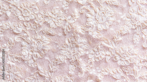 Fotografie, Tablou Seamless lace background with floral pattern