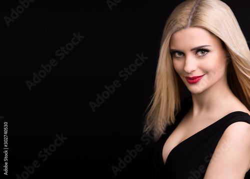 Obraz Beautiful girl happy young business woman - fototapety do salonu