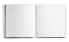 Open Square Book With Blank Pa...
