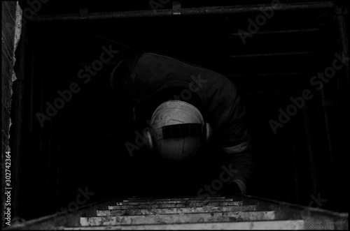 Fotografia, Obraz artisan sur chantier
