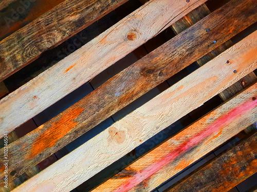 Tavole di legno Canvas Print
