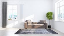 Living Room Interior In Scandi...