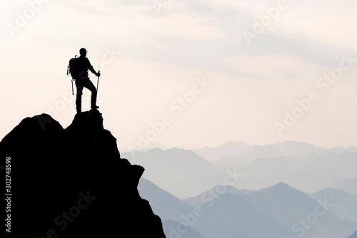 Obraz spectacular success story, struggle, perseverance and ambition - fototapety do salonu