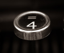 Old Vintage Typewriter Keys Cl...