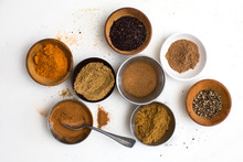 Overhead View Of Assorted Spices
