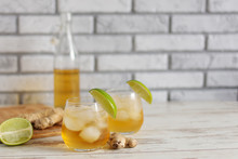 Fresh Ginger Ale With Lime And...
