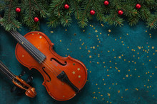 Two Old Violins And Fir-tree B...
