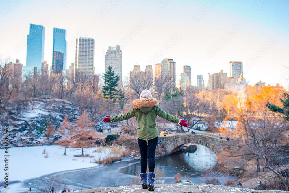 Fototapety, obrazy: Adorable girl in Central Park at New York City