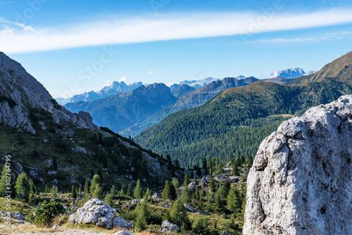 Dolomites Mountains, Passo Valparola, Cortina d'Ampezzo, Italy Wallpaper Mural